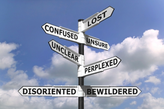 Lost and Confused Signpost by worriorfitness.org